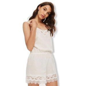 TopShop Cotton and Lace Romper